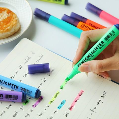 三角筆桿固體螢光筆